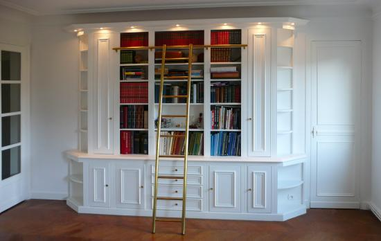 Votre biblioth que sur mesure placard 39 art - Bibliotheque avec echelle ikea ...