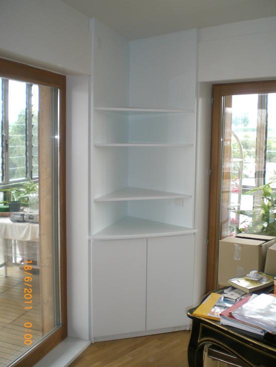Votre biblioth que sur mesure placard 39 art - Bibliotheque d angle blanche ...